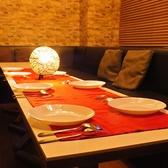 ◆ソファー席(~5名様)◆シックで落ち着いた雰囲気のソファー席。1席ずつ独立したレザー調のソファー席はちょっぴり贅沢気分を味わえます♪最大5名様までご利用が可能です。