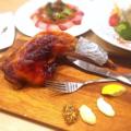 料理メニュー写真名物!!播州赤鶏のチキンレッグ(もものローストチキン)約2~3人前