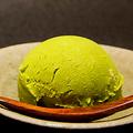 料理メニュー写真挽茶シャーベット(福岡県八女郡星野村産茶葉)