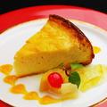 料理メニュー写真自家製ベイクドチーズケーキ