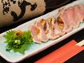 料理メニュー写真宮崎地鶏のたたき(ムネ)