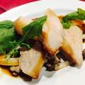 料理メニュー写真豚トロのグリル、山椒ソース