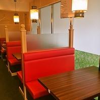 【ランチや会社帰りに】使いやすいBOXテーブル席