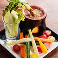 料理メニュー写真カラフル野菜の冷製バーニャカウダ