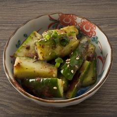 料理メニュー写真たたき胡瓜の梅肉和え