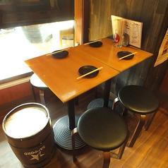 5名様用テーブル席です。