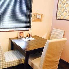 【2名用のお席】個室風の奥のテーブルは人気なのでおはやめに!