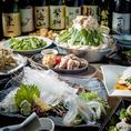 飲み放題付コースは4,000円(税抜)からご用意!鮮度重視の海鮮料理や、お鍋など充実した内容で各種宴会にもおすすめです◎