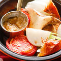 料理メニュー写真石窯野菜盛り合わせレギュラー(5種類)