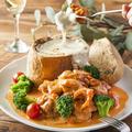 料理メニュー写真チーズフォンデュ風パネチキン