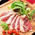 料理メニュー写真大人気!!◆合鴨の生ハム◆