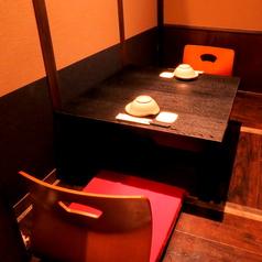 ≪2名様用個室≫大小様々な個室が自慢!デートに最適なめずらしい2名様用の個室もございます!落ち着いた個室の空間で、あったか鍋などこだわりのお食事とお酒をゆったりとお楽しみください◎人気のお席なので、ご予約はお早めに★