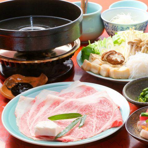 【歓送迎会!すきやきコース】〜A5ランクの超霜降り肉を使った本気のすき焼き!〜
