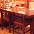 2~4名用のテーブル席