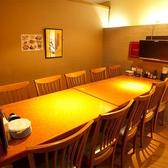 テーブル8名様個室!★宴会、女子会、合コンなどにおすすめ★シーンに合わせたバリエーション豊富な完全個室を多数ご用意しております。落ち着いた雰囲気のお席で周りを気にせずにお楽しみいただける個室は新年会、女子会、合コンなどでご利用のお客様にも人気!