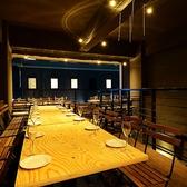 ◆2F オープンエアーの開放感のあるフロア《40名~60名様》立食は最大70名様までOK!