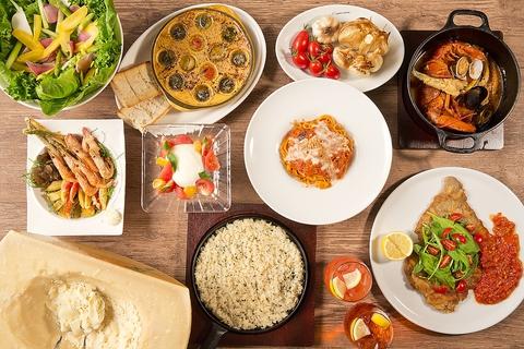カクテルやイタリアンワインに合わせやすいサラダやミニ前菜が登場。