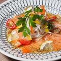 料理メニュー写真サーモンのカルパッチョ~バジルソース~