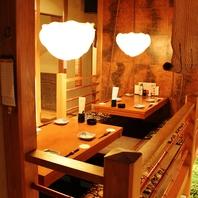 和個室が充実。テーブルもお座敷も!