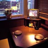 カップルにオススメ!夜景の見える半個室テーブル【焼肉不可】
