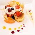 料理メニュー写真フルーツミックスクランペット