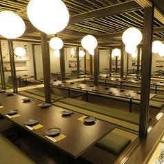 【50~最大80名様個室】100名様の個室は早めのご予約を!会社宴会・サークル・大人数の宴会は『かこみ庵』にお任せ。