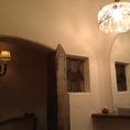 1階お手洗い。アンティークで出来ています。本物のヨーロッパの雰囲気です。