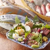 天然活魚のお造り