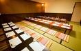 会社のご宴会などにもご利用いただける広々としたお座敷席です。