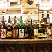 """三重の地酒""""作""""など、様々な日本酒をご用意。"""