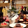 『日本未上陸』『未発売』『独占契約』の当店でしか飲めないカリフォルニアワインがお料理と一緒に楽しめます!