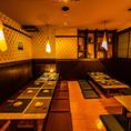 福島駅近くになのでアクセス良好。店内は全て扉付き個室となっております。温かみのある落ち着いた空間は、50名様~70名様まで貸切でご利用いただけます。会社宴会、歓送迎会、同窓会など大人数でのお集りに是非ご利用ください。