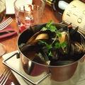 料理メニュー写真山盛り!ムール貝の白ワイン蒸し