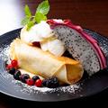 料理メニュー写真バナナとカスタードクリームのトルティーヤ