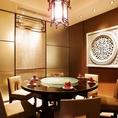 【8名様向けの円卓個室】円卓席は会話が弾み、盛り上がります。