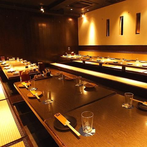 個室55名までOK!ご宴会には刺身盛合せ付☆国産牛すき焼鍋コース3984円(飲放付)が◎
