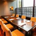 【8名様テーブル個室】ご宴会ならこちらの個室がおすすめです。