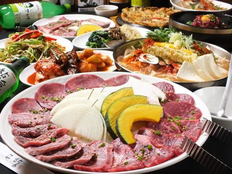 ジューシーな焼肉はもちろん、ひとつひとつ丁寧に調理した韓国料理を振る舞います!