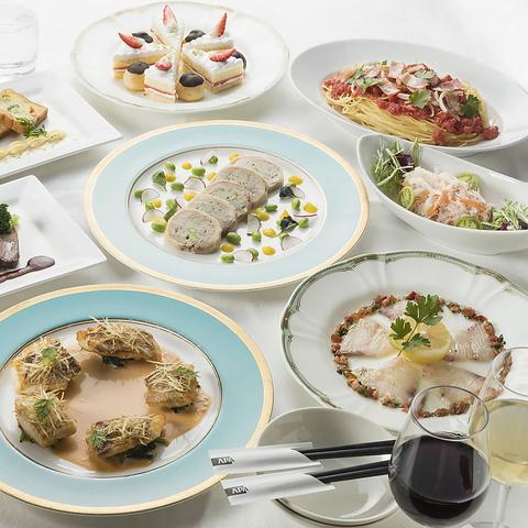 冬のパーティープラン【エグゼクティブ】季節の食材を盛り込んだ大皿盛り洋コース料理
