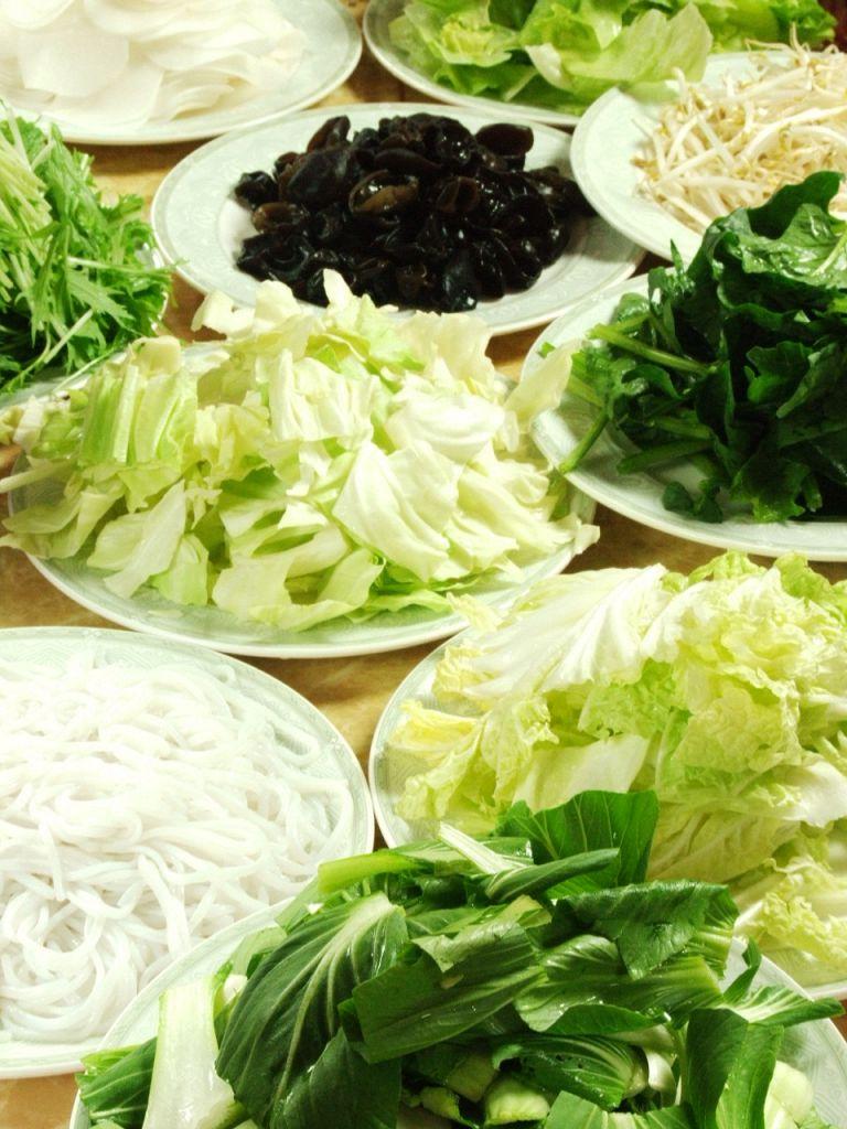 10種類以上の新鮮野菜も食べ放題!ヘルシー志向のあなたにおすすめ☆