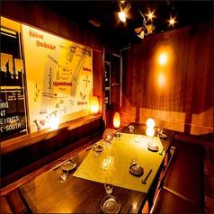 ◆少人数様向け個室◆広々ゆったり個室で女子会,合コン,接待などいかかですか。個室席なので周囲を気にせず楽しく会話が盛り上がります。お寛ぎください