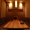 2名~4名の【少人数】4名様の半個室、テーブル席もご用意!ゆったりとしたスペースでデート、接待、少人数での宴会に最適!【全席禁煙】