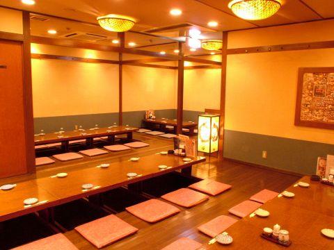 掘り炬燵個室は御人数に合わせて♪最大55名までOK♪ 飲み会・宴会~ご予約承ります♪