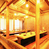 40名様までOKな個室となります!隅から隅まで全員を見渡せる落ち着いた空間はご宴会に最適です!