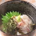"""料理メニュー写真五島鮮魚出汁の""""鯛茶漬け"""""""