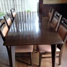 2階、6名様がけのお席、こちらにお席をつけて、大人数も可能です!