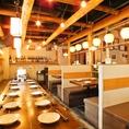 店内は宮崎の鶏舎小屋をイメージした懐かしくもあたたかい空間♪ゆっくりくつろぎながら味わってください☆