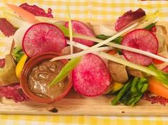 旬野菜の彩りバーニャカウダ
