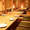 最大50名様までの大人数にも対応可能飲み会や宴会など大人数のお客様大歓迎です。個室は人数に応じてサイズを調整できるので、ご要望お申し付け下さい。