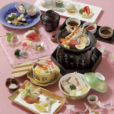 旬の地元の食材を活かした味わい深い日本料理の粋をご堪能いただけます